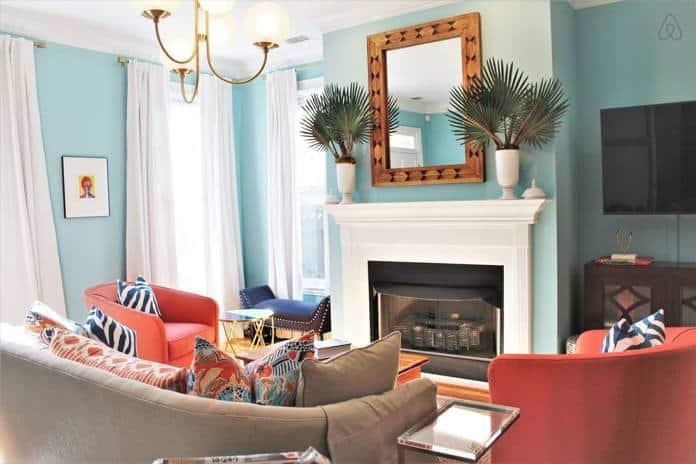 Airbnb Savannah GA Bright and Sophisticated