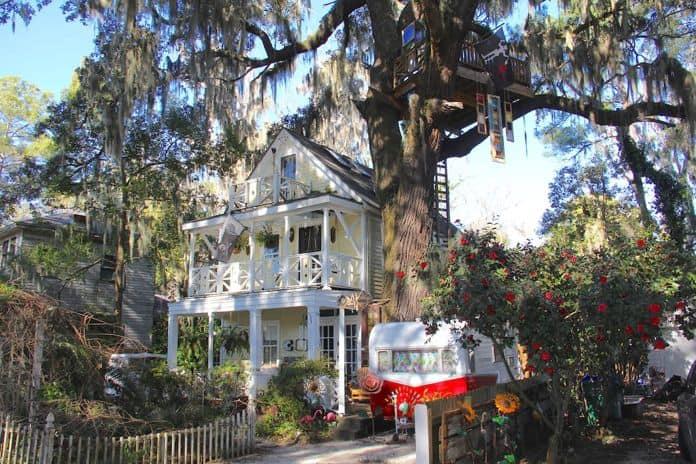 Airbnb Savannah GA Diamond Oaks Treehouse