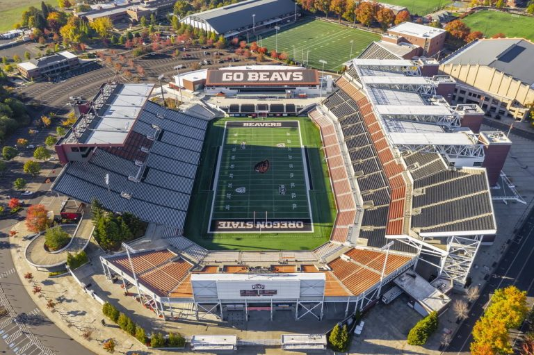 Corvallis Oregon State University from the air