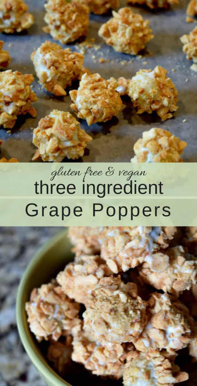 three ingredient grape popper dessert