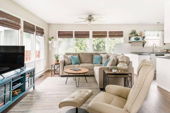 Airbnb Spokane Elegant Open Plan