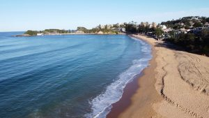Image of Terrigal Beach showing the main part of Terrigal where good airbnb in Terrigal are