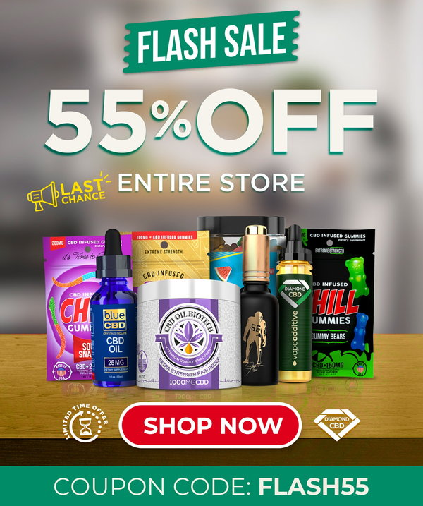 Diamond CBD Flash Sale! Get 50% off or more. Today only.
